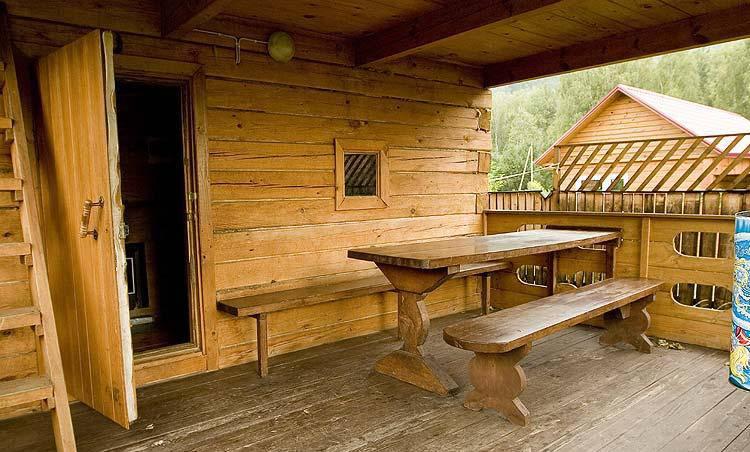 Дизайн бани с террасой