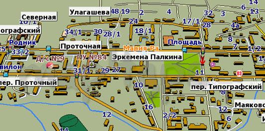 карта горно-алтайска улицами