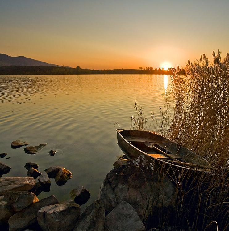 рыбаки на берегу озера